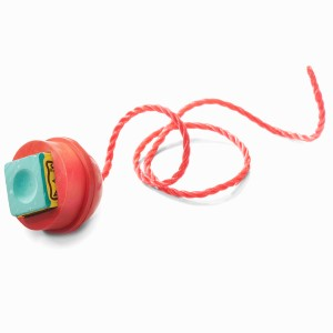 Rubber Chalk Holder On Cord With String Red