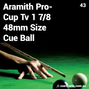 Aramith Pro Cup Tv 1 7 8 48mm Size Cue Ball