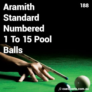 Aramith Standard Numbered 1 To 15 Pool Balls