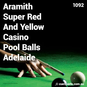 Aramith Super Red And Yellow Casino Pool Balls Adelaide