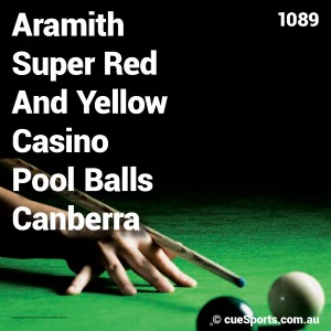 Aramith Super Red And Yellow Casino Pool Balls Canberra