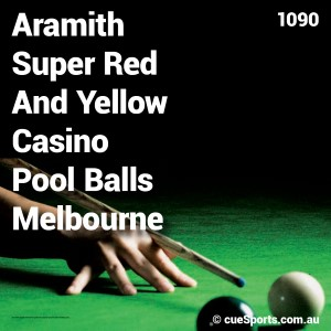 Aramith Super Red And Yellow Casino Pool Balls Melbourne