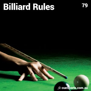 Billiard Rules