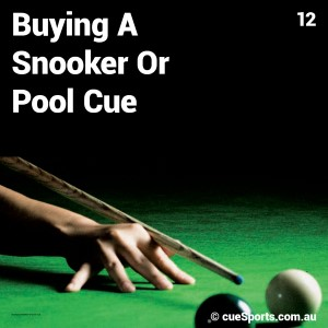 Buying A Snooker Or Pool Cue