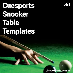 Cuesports Snooker Table Templates