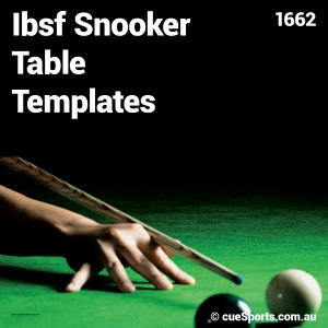 Ibsf Snooker Table Templates