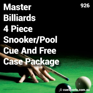 Master Billiards 4 Piece Snooker Pool Cue And Free Case Package