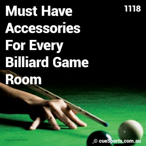 Must Have Accessories For Every Billiard Game Room