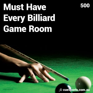 Must Have Every Billiard Game Room