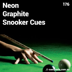 Neon Graphite Snooker Cues