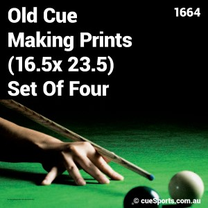 Old Cue Making Prints 16.5x 23.5 Set Of Four