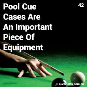 Pool Cue Cases Are An Important Piece Of Equipment