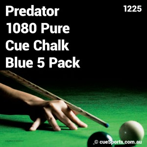 Predator 1080 Pure Cue Chalk Blue 5 Pack
