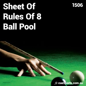 Sheet Of Rules Of 8 Ball Pool