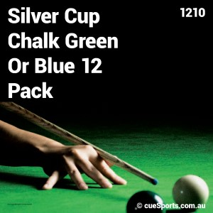 Silver Cup Chalk Green Or Blue 12 Pack