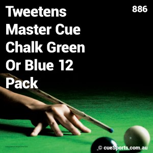 Tweetens Master Cue Chalk Green Or Blue 12 Pack