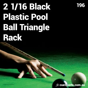 2 1 16 Black Plastic Pool Ball Triangle Rack