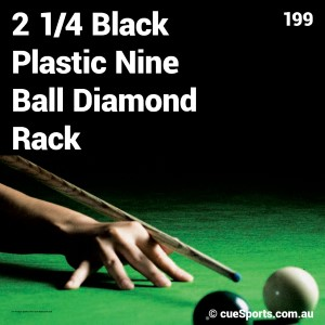 2 1 4 Black Plastic Nine Ball Diamond Rack