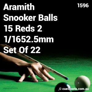 Aramith Snooker Balls 15 Reds 2 1 1652 5mm Set Of 22