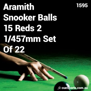 Aramith Snooker Balls 15 Reds 2 1 457mm Set Of 22