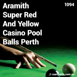 Aramith Super Red And Yellow Casino Pool Balls Perth