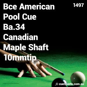 Bce American Pool Cue Ba.34 Canadian Maple Shaft 10mmtip