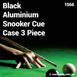 Black Aluminium Snooker Cue Case 3 Piece