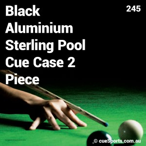 Black Aluminium Sterling Pool Cue Case 2 Piece