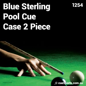 Blue Sterling Pool Cue Case 2 Piece