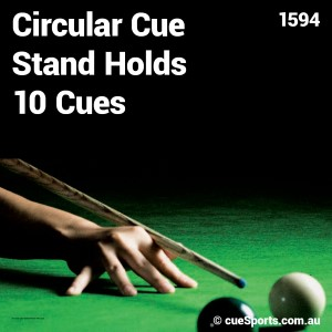 Circular Cue Stand Holds 10 Cues