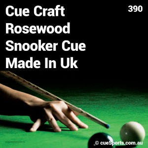 Cue Craft Rosewood Snooker Cue Made In Uk