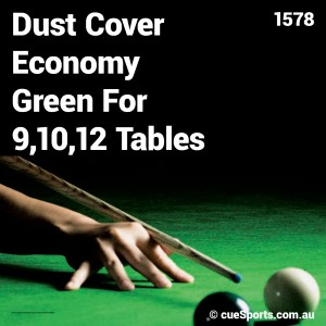Dust Cover Economy Green For 9 10 12 Tables