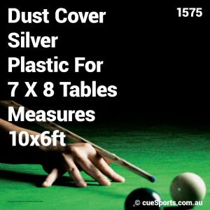 Dust Cover Silver Plastic For 7 X 8 Tables Measures 10x6ft