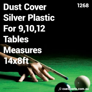 Dust Cover Silver Plastic For 9,10,12 Tables Measures 14x8ft