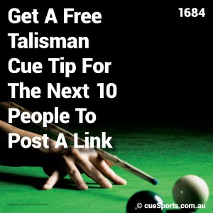 Get A Free Talisman Cue Tip For The Next 10 People To Post A Link