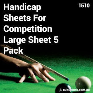 Handicap Sheets For Competition Large Sheet 5 Pack