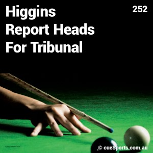 Higgins Report Heads For Tribunal