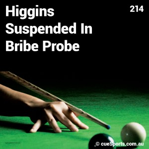 Higgins Suspended In Bribe Probe
