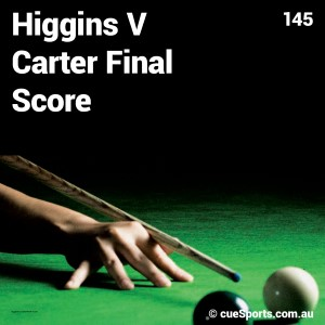 Higgins V Carter Final Score
