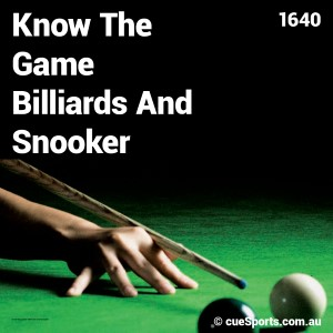 Know The Game Billiards And Snooker