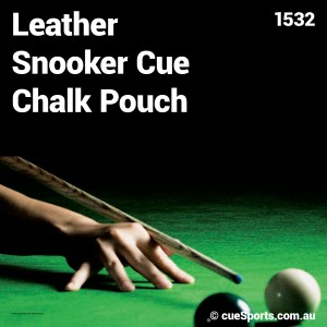 Leather Snooker Cue Chalk Pouch