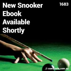 New Snooker Ebook Available Shortly