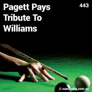 Pagett Pays Tribute To Williams