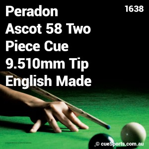 Peradon Ascot 58 Two Piece Cue 9.510mm Tip English Made