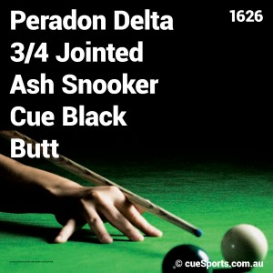 Peradon Delta 3 4 Jointed Ash Snooker Cue Black Butt