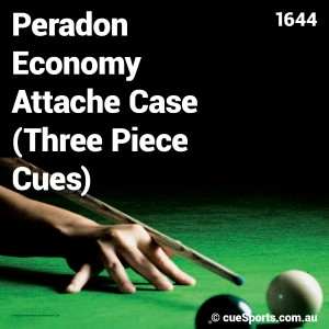 Peradon Economy Attache Case Three Piece Cues
