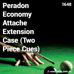 Peradon Economy Attache Extension Case Two Piece Cues