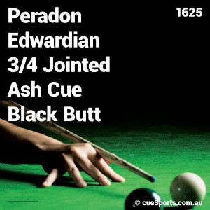 Peradon Edwardian 3 4 Jointed Ash Cue Black Butt