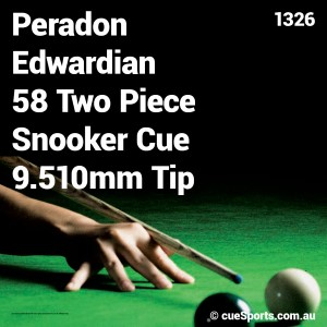 Peradon Edwardian 58 Two Piece Snooker Cue 9.510mm Tip