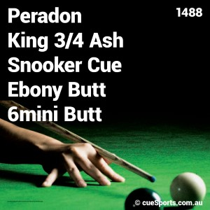 Peradon King 3 4 Ash Snooker Cue Ebony Butt 6mini Butt